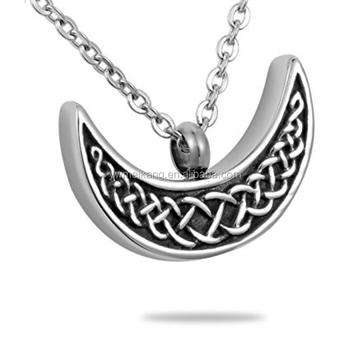 Celtic crescent moon pendant necklace cremation urn jewellery ash celtic crescent moon pendant necklace cremation urn jewellery ash keepsake mozeypictures Choice Image