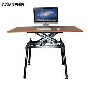 COMNENIR T9 TEAKWOOD sit to stand desk electric standing office table ergonomic height adjustable desk sit stand desk frame