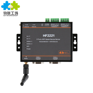 HF2221 2 ports RS232/RS485/RS422 to WiFi Ethernet serial device server converter