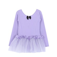 New Girls Child Long Sleeve Leotard Chiffon Ballet Dance font b Dress b font Gymnastics Dancewear