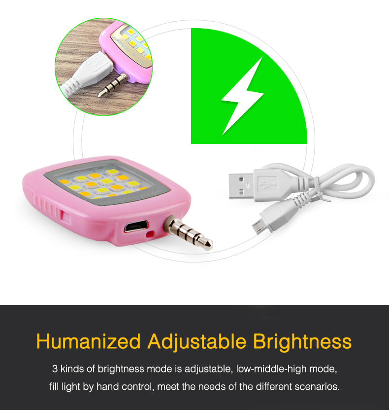 Led Selfie Flash Lamp Rechargeable Flash Fill-in Light 3.5mm Jack Plug Selfie Light Led Night Using Pocket Spotlight Flashes & Accessories