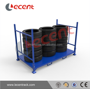 China Factory Directly Selling Spare Tire Stack Rack, Heavy Duty Tyre Rack,Adjustable Tyre Shelving