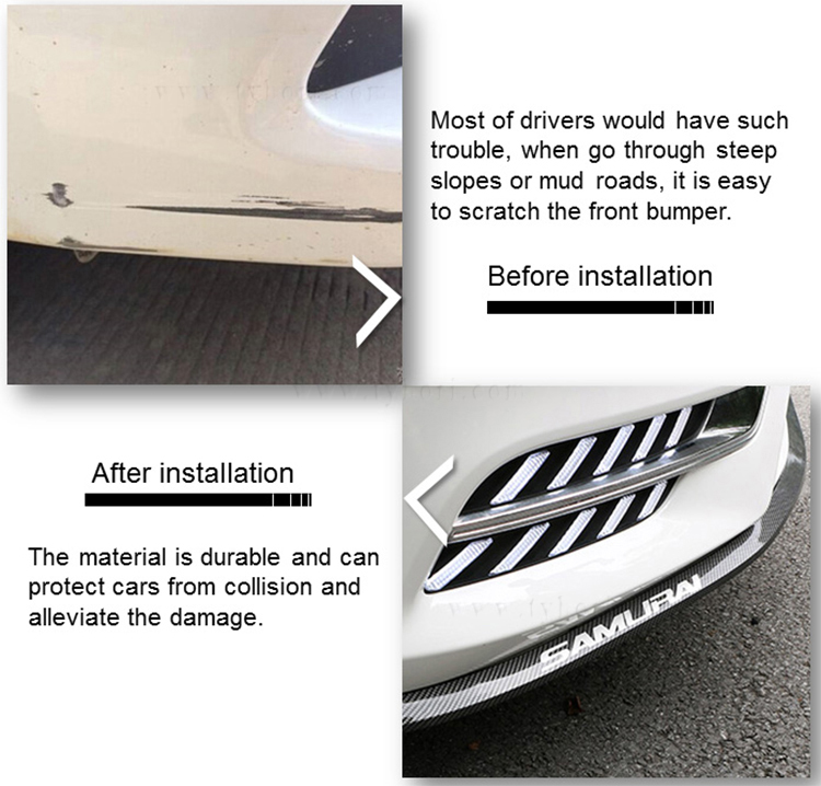 hot sell car front protector rubber bumper lip