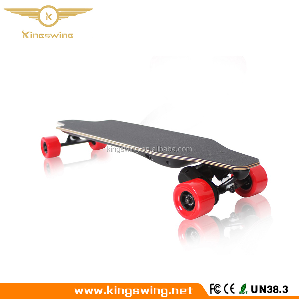 Canada maple Electric Longboard Skateboard PU tyre kick Scooter with Wireness Controller