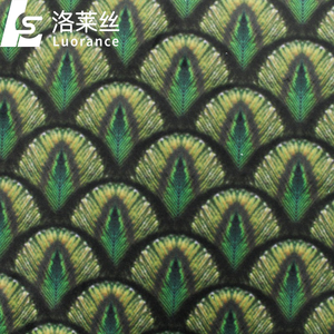hot sale peacock print velvet fabric