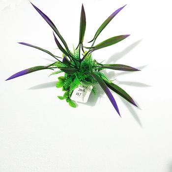 Artificial Fish Tank Decoration Fake Plants Aquarium Plastic Silk Plant Leafy Ornament