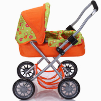 baby doll stroller 4 wheels with basket