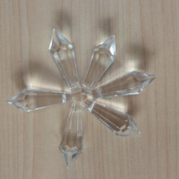 Clear crystal beads for fiber optic chandelier drop pendant 38*14mm
