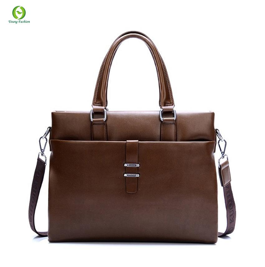 Get Quotations · new Fashion shoulder leather men Handbags fashion business  men messenger bags men travel bags men leather 94400f129cc6e