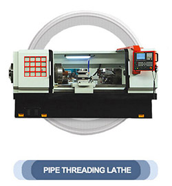 Heavy duty conventional pipe threading lathe machine for oil country