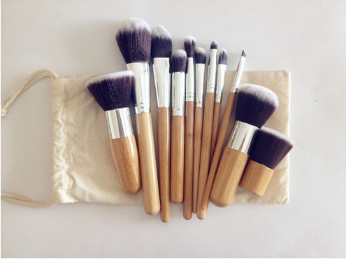 free shipping  cosmetic brush 11pcs private label