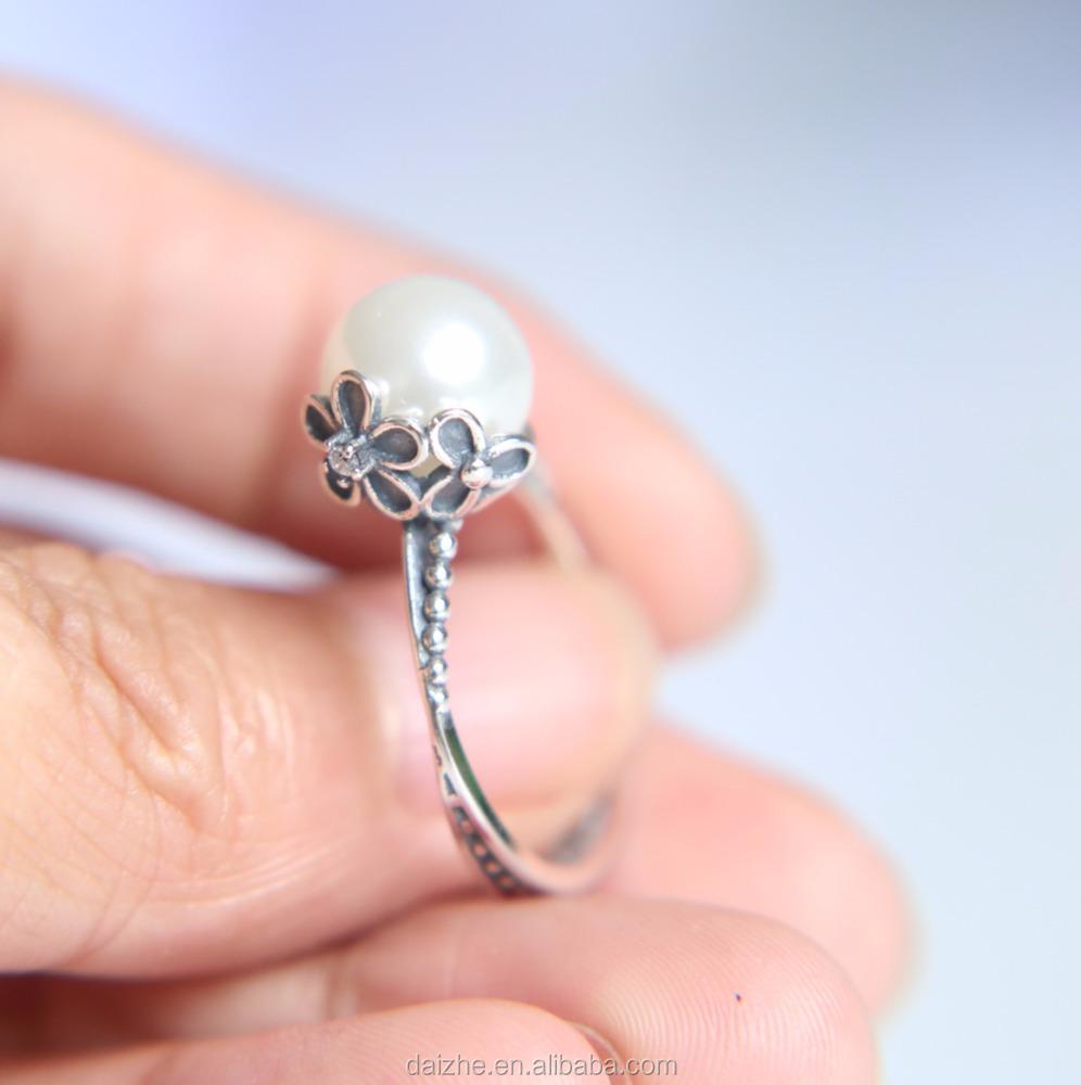 China silver pearl stone ring wholesale 🇨🇳 - Alibaba