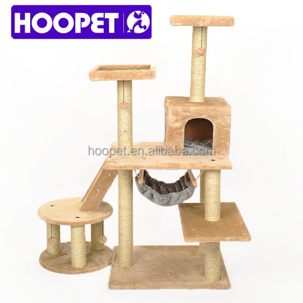Natural Sisal Light Color Cat Tree House Pet Supplies