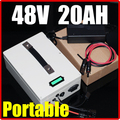 48V 20AH Portable multifunction Lithium Battery Pack 54 6V 1000W Electric bicycle Scooter solar energy battery
