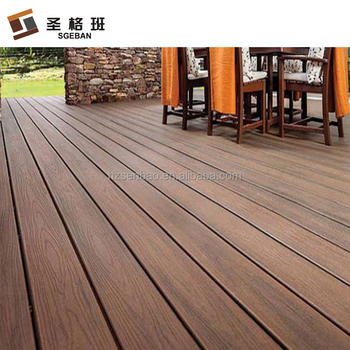 Anti Slip Outdoor Recycled Wpc Decking