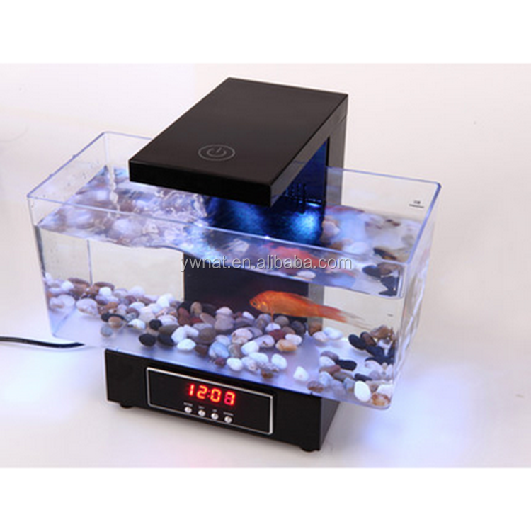 multifunktionale led usb desktop aquarium mini aquarien aquarium mit touch f hrte tischleuchte. Black Bedroom Furniture Sets. Home Design Ideas