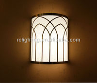 Metal Cut Antique Brass Frame Wall Lamp