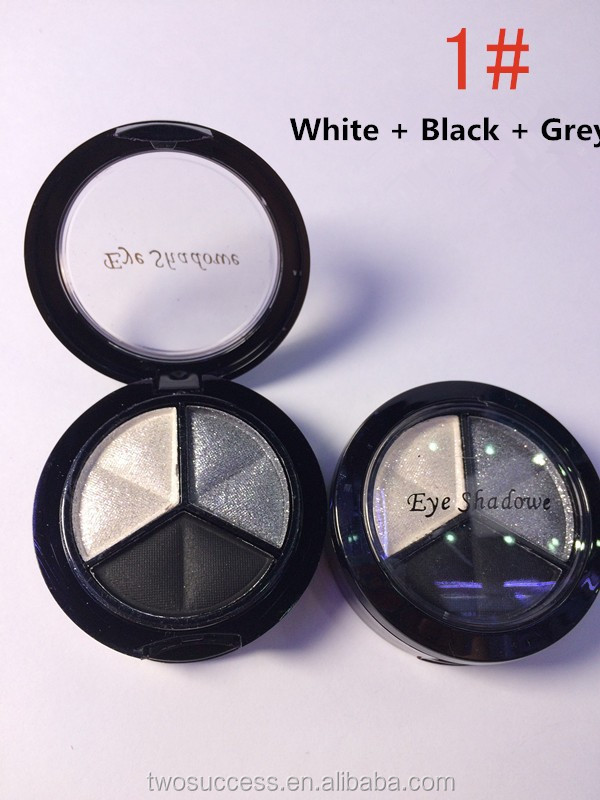 3 colors cosmetic eye shadow