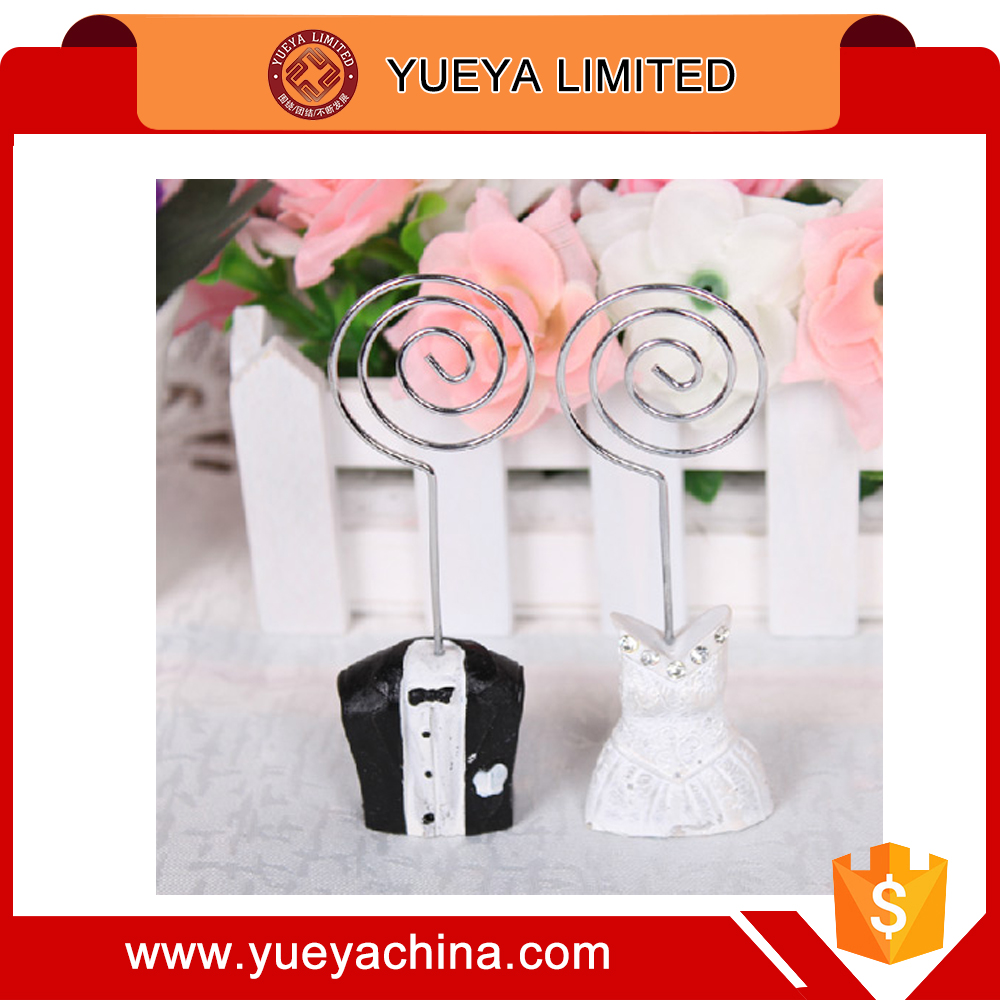 wedding seat name card clip holders creative bride and bridegroom designer office Note Clamp