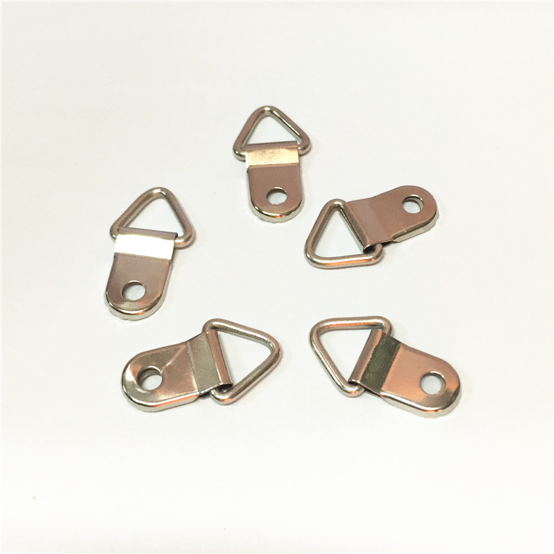 Nickel Plated one hole D ring triangle frame hanger <strong>hook</strong>