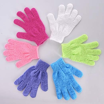 Double Sided Exfoliating Gloves Body Scrubbing Glove Bath Scrubs for Shower