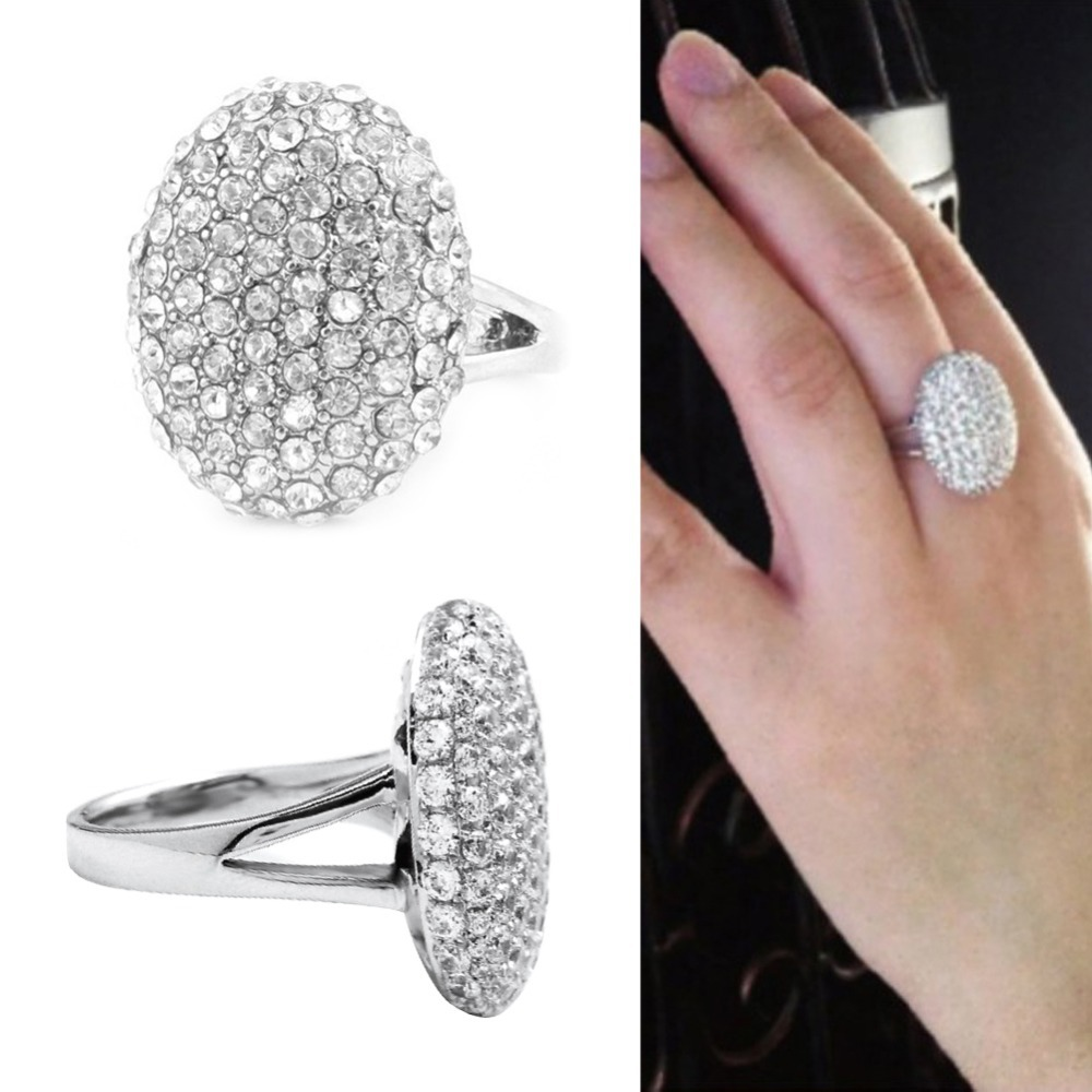 New Elegant Crystal Rings for Women Twilight Bella Engagement Rings Silver Fine Jewerly Wedding Rings anillos bague PTSP