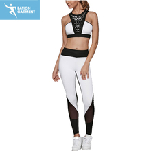 latest sports fitness gear womens tracksuit two piece suit activewear wholesale