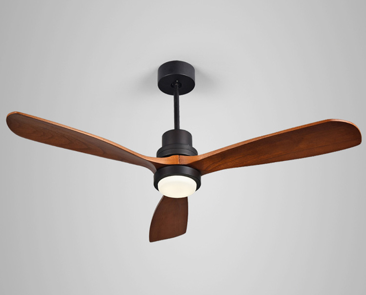 High Quality 52 Inch Modern wooden blade led Ceiling pendant Fan Lamp