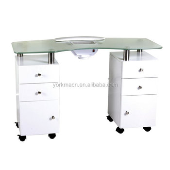 Ym 005B Vented Nail Bar/manicure Bar Table With Dust Fan