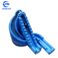 Commercial grade giant inflatable water slide inflatable adult double lane slide for sale