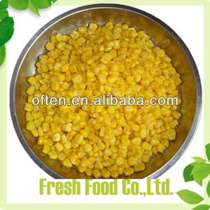Chinese new crop buy canning sweet corn