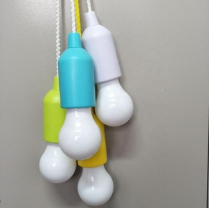 Rope Pull Switch Battery Powered 1W LED Bulb