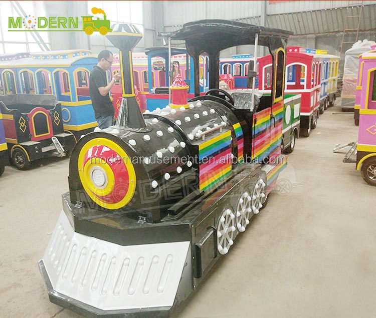 Children's playground ride extreme amusement park garden electric trackless tourist train