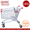 Europe style 180L metal cart with swivel wheel shopping trolley