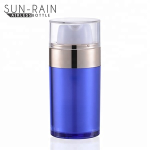 30ml 50ml colorful cosmetic airless pump unique shaped plastic bottles
