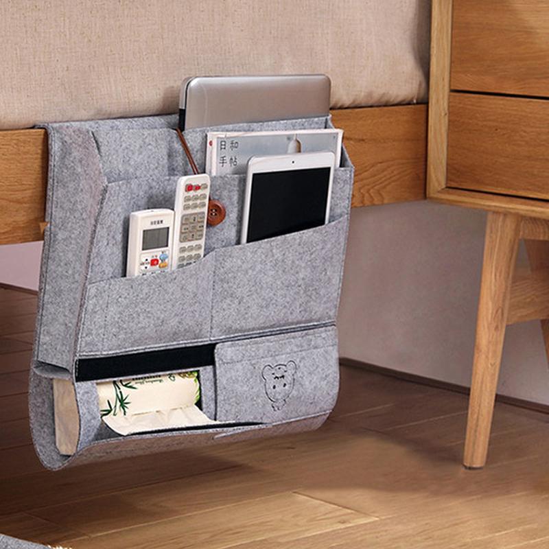 Best selling personalizado Sentiu Caddy Cabeceira para cama organizador