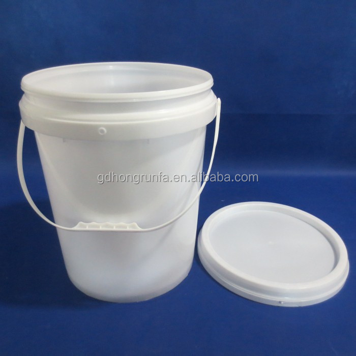 19L PP plastic bucket cheap custom bucket with lid