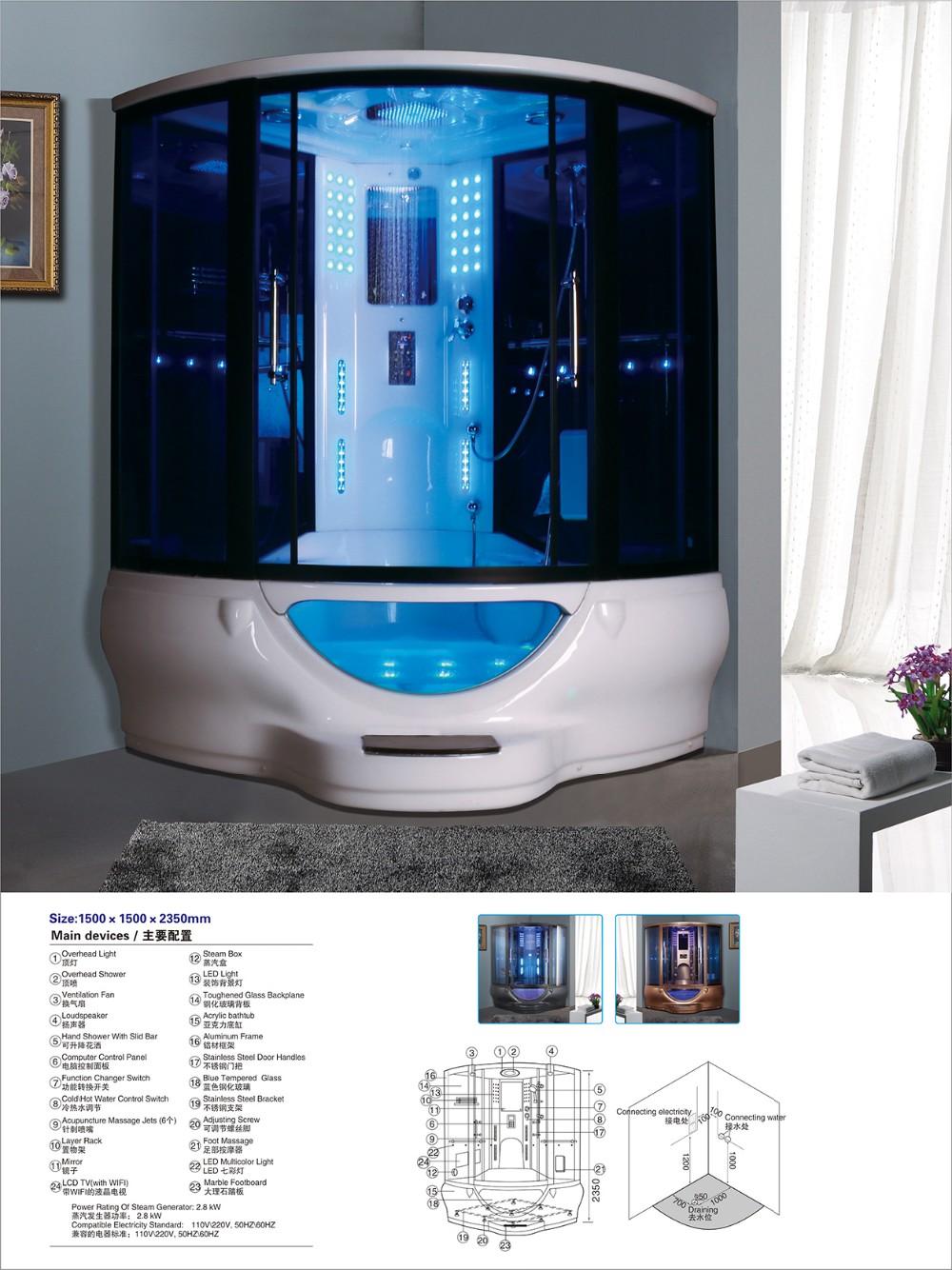 Steam Shower Combination/steam Bath Whirlpool Cabine/bath Tubs And ...