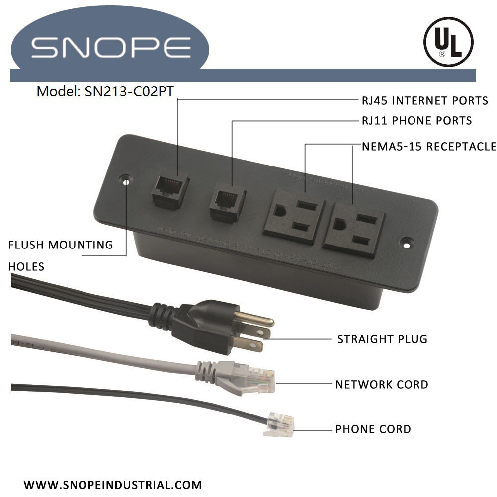 Multi Conference Table Power Data Socket Outlet With Rj11 Phone ...