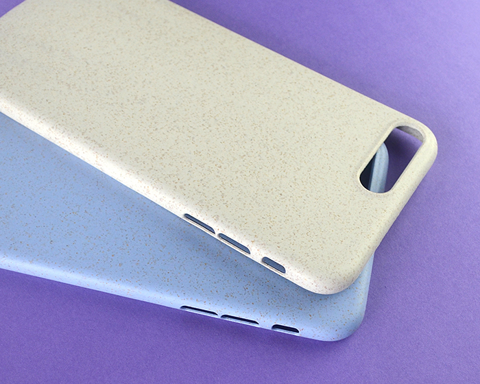 Top Selling Biodegradable Compostable Eco Friendly Anti-scratch Wheat Clear Mobile Phone Cover Case For Iphone