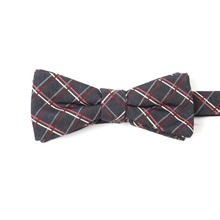 Wholesale Bow Tie Classic Grid Checked Fabric Microfiber Bowtie for Men