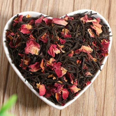 Healthy blended earl grey rose black tea with private logo