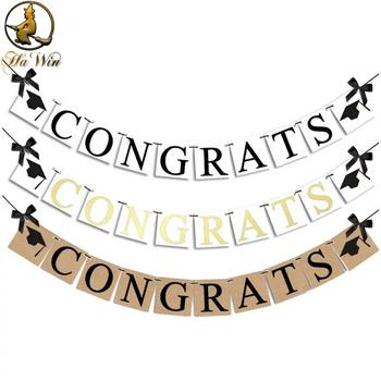graduation congratulations banner natural jute hanging flag buy