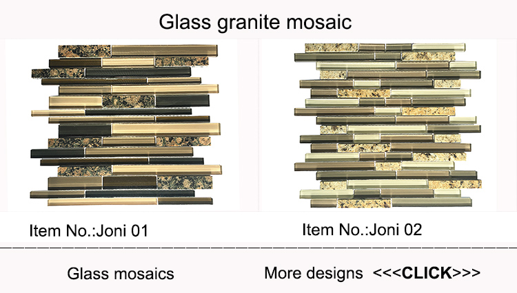 Style selection glass mix granite mosaic tile for kitchen and bathroom backsplash