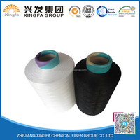 high quality polyester cone dyed or raw white dty 100% polyester yarn 150d/48f