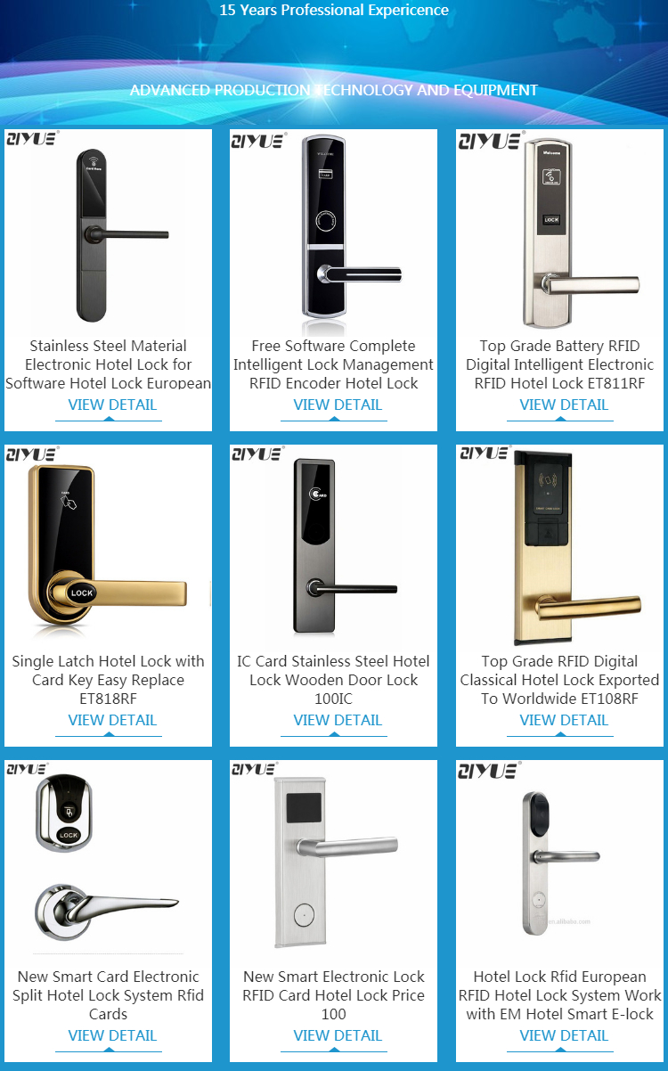 Luxury Electronic Swipe Rfid Card Hotel Smart Reader Door Lock With  Software System - Buy Hotel Card Door Lock,Rf Hotel Door Lock,Electronic  Hotel