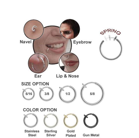 New Arrival Medical Nose Hoop Nose Rings Piercing Double Nose Ring