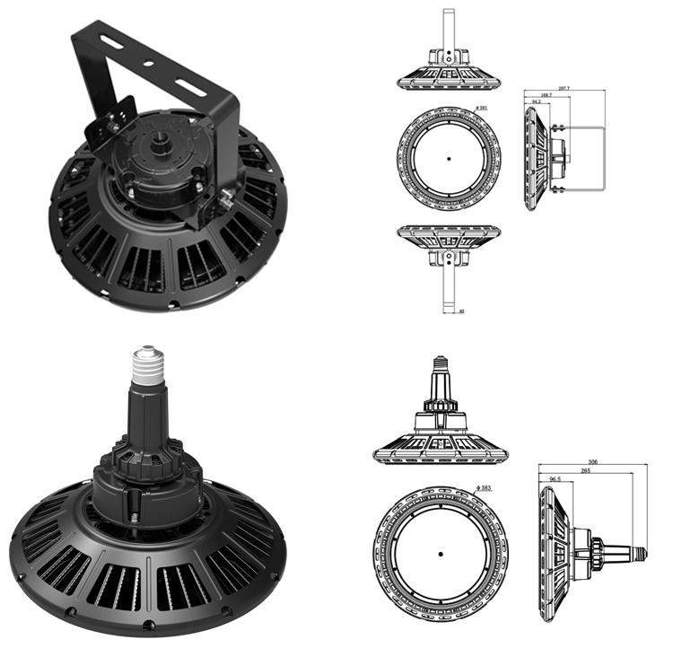 Shenzhen Supplier 5 Year Warranty adjustable frame 200w Led UFO High Bay Lamp