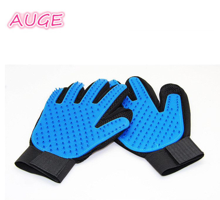 <strong>Dog</strong> and cat all can used soft silicone breathable cloth massaging take a shower get rid of hair Pet Grooming Glove