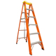 Movable 5 step ladder fiberglass extension safety ladder